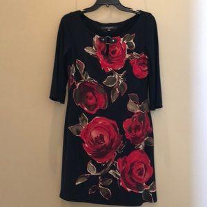 Nine West black floral dress